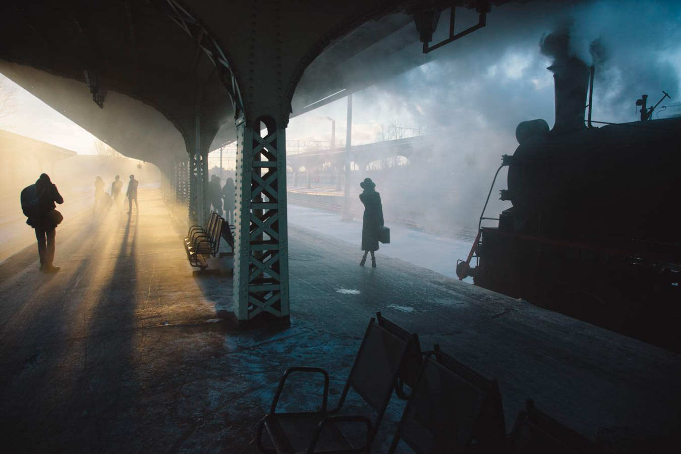 Two times one train station, © Nikolay Schegolev, Weather Photographer of the Year