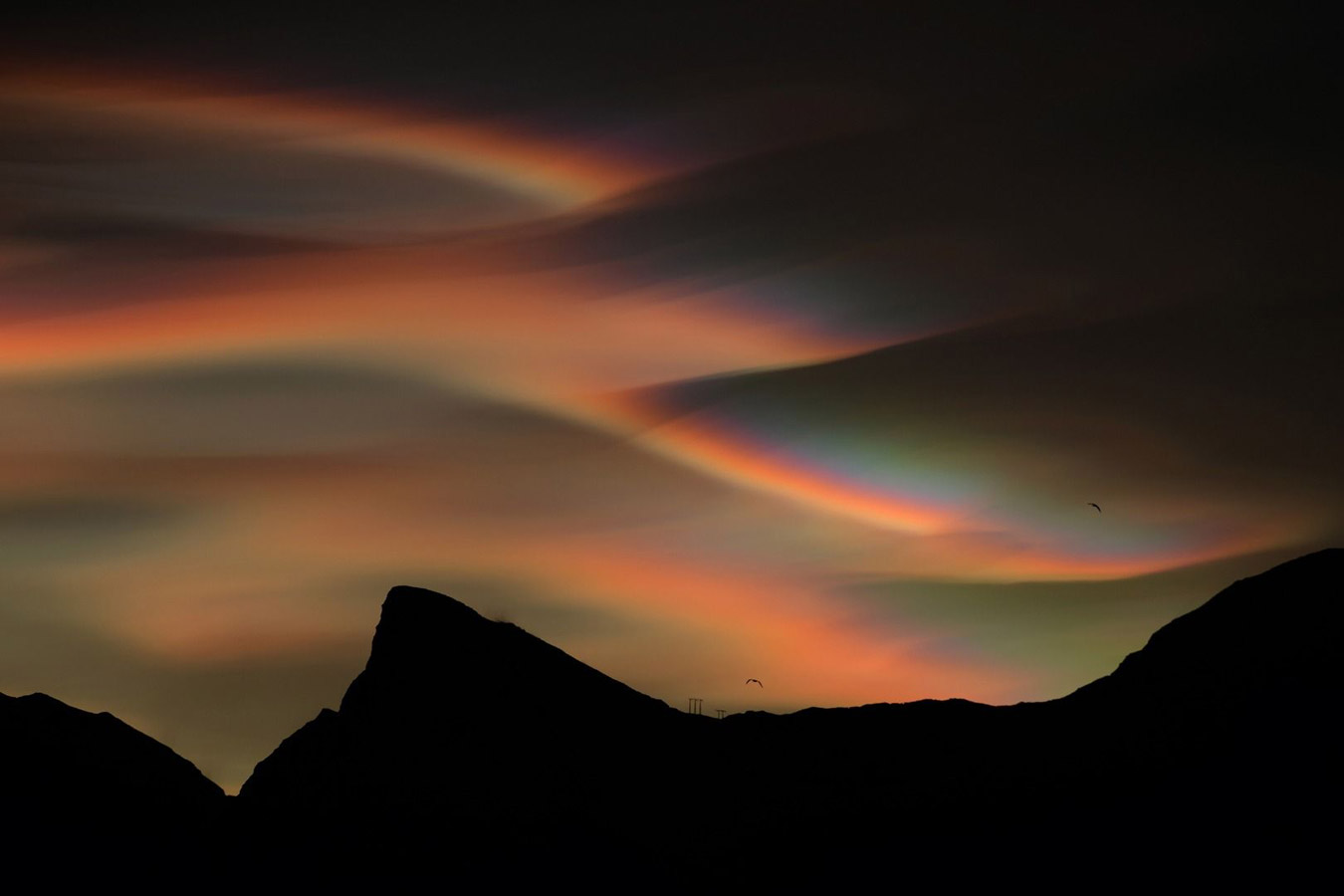 Nacreous Clouds, © Bartlomiej Jurecki, Weather Photographer of the Year