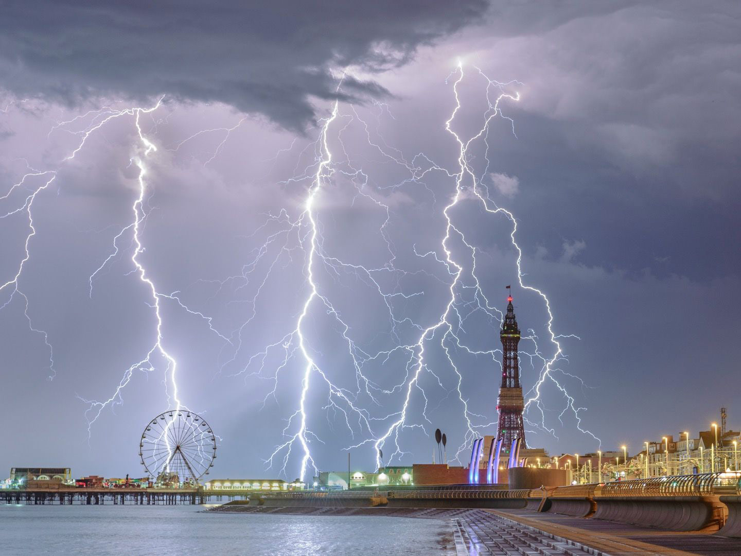 Electric Blackpool, © Stephen Cheatley, Weather Photographer of the Year