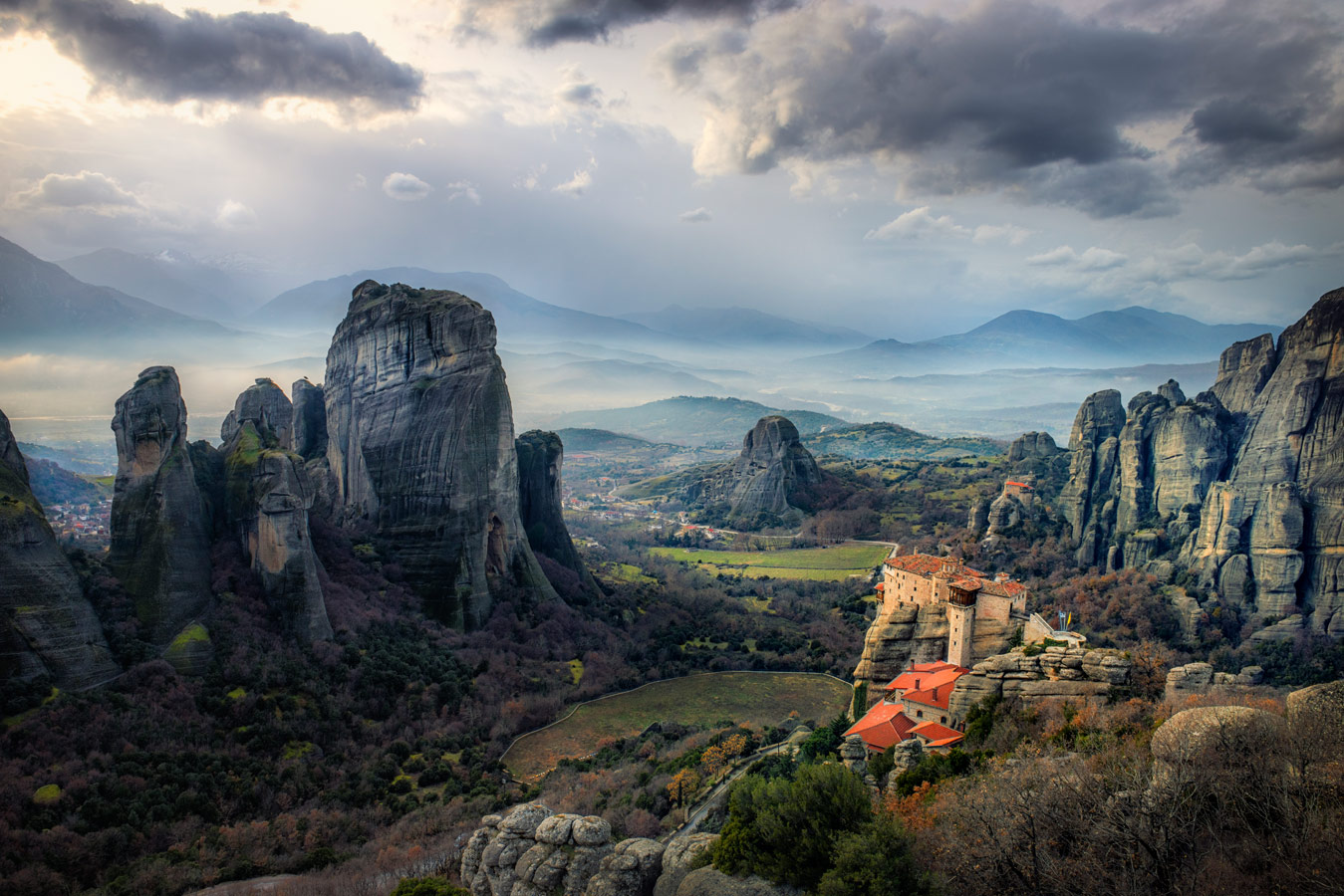 Meteora rock formation with monasteries on top of them, Greece, © Stathis Floros, 15 place, Wiki Loves Earth Photo Contest