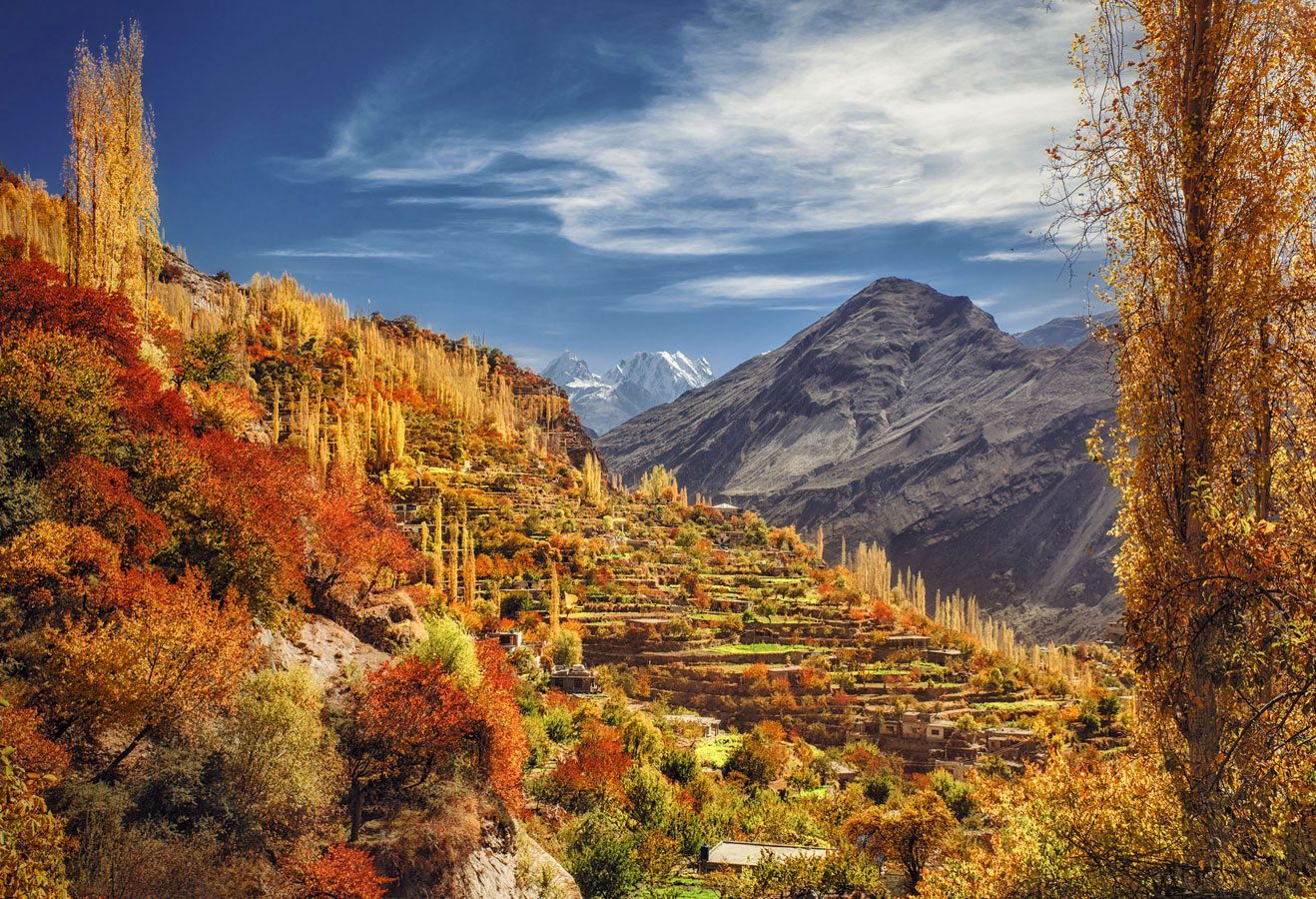 Autumn at its boom in the valley of Hunza, Gojal Conservancy, Pakistan, © Nasr Rahman, 5 place, Wiki Loves Earth Photo Contest