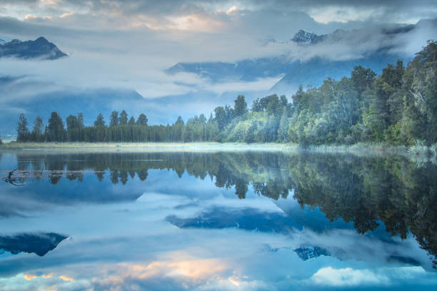 Sunrise Lake Matheson 3, © Sandra Kuprion-Thomas, Women Artists Art Competition