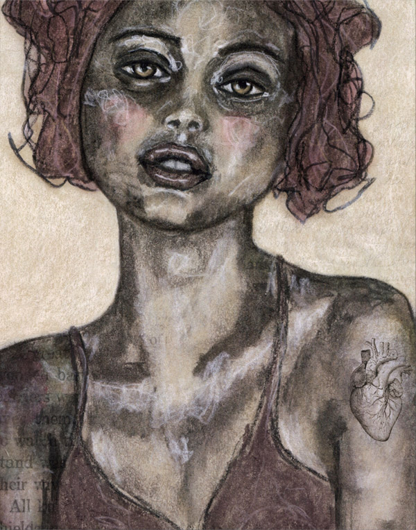 She Wears Her Heart on Her Sleeve, © Angela Amias, Women Artists Art Competition