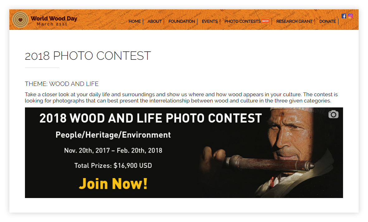 Wood and life Photo Contest