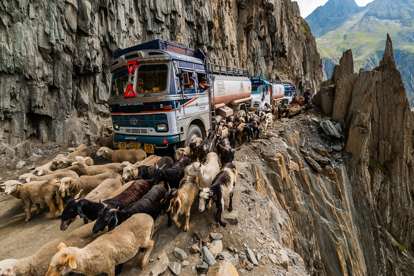 Zojila Pass, Kashmir: One Of The Most Dangerous Roads In The World, © Blaine Harrington Iii, Littleton, CO, United States, First Place Professional : Spontaneous Moments, Grand Prize, World In Focus - The Ultimate Travel Photography Competition