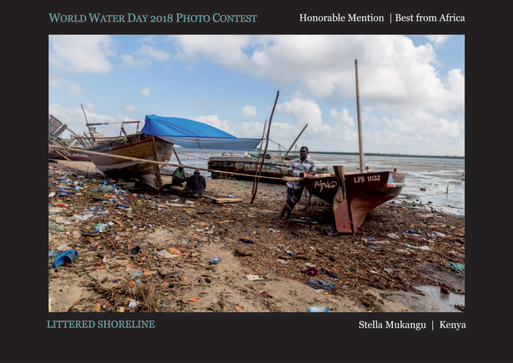 Littered Shoreline, © Stella Mukangu, Honorable Mention Best from Africa, World Water Day Photo Contest
