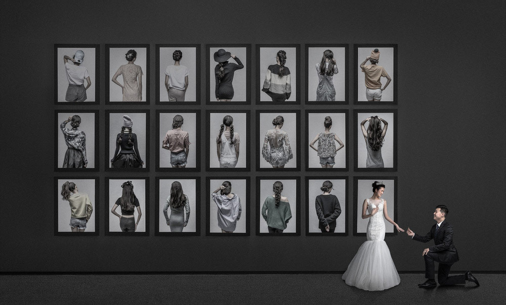 © Aries Tao, First Place : Creative Division - Wedding Contemporary, WPPI Annual Print Competition