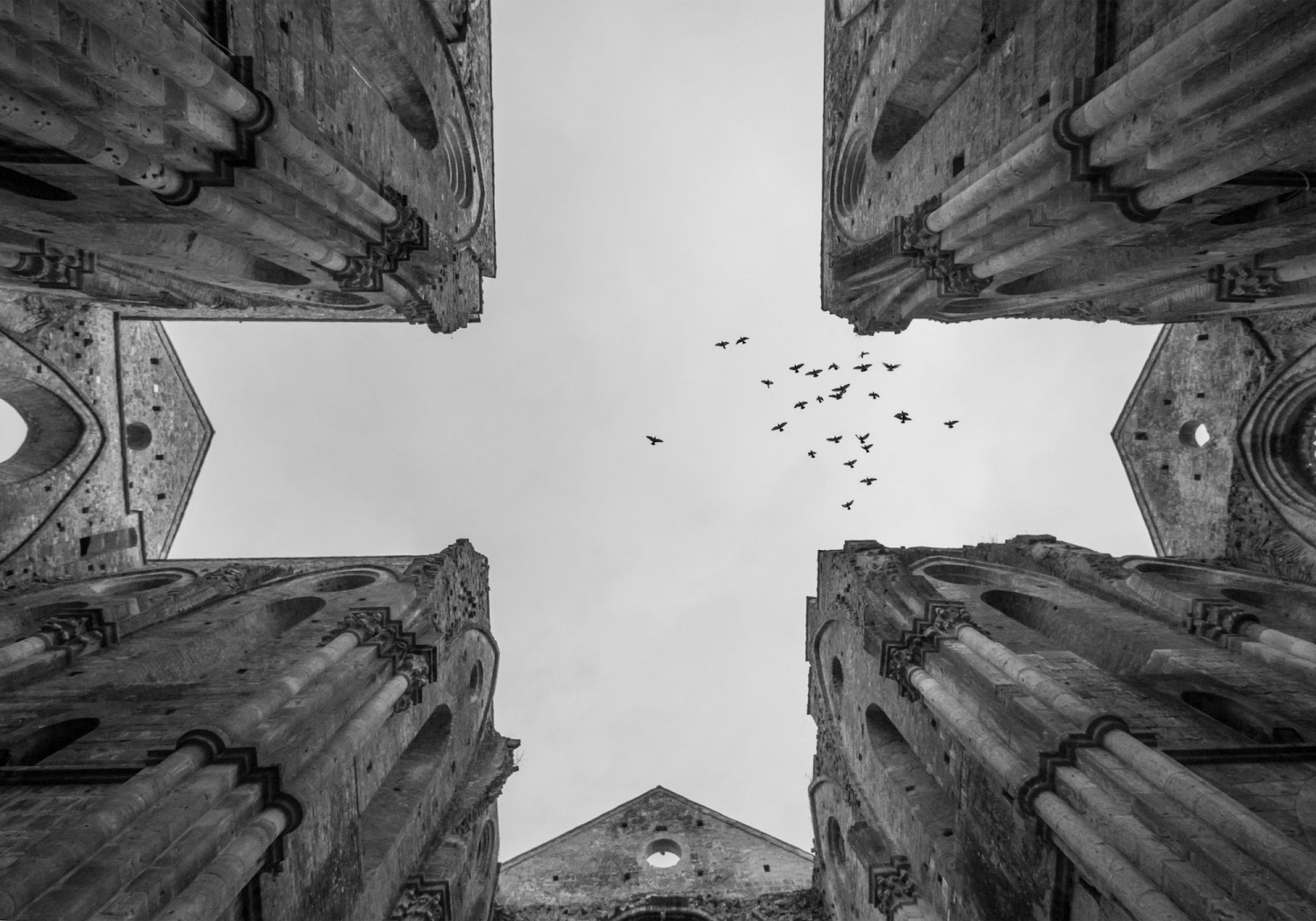 Sacred Sky, © Valerio MEI, 2nd Place, Non-Professional - Architectural, Zebra Awards - TZIPAC Black and White Photographer of the Year