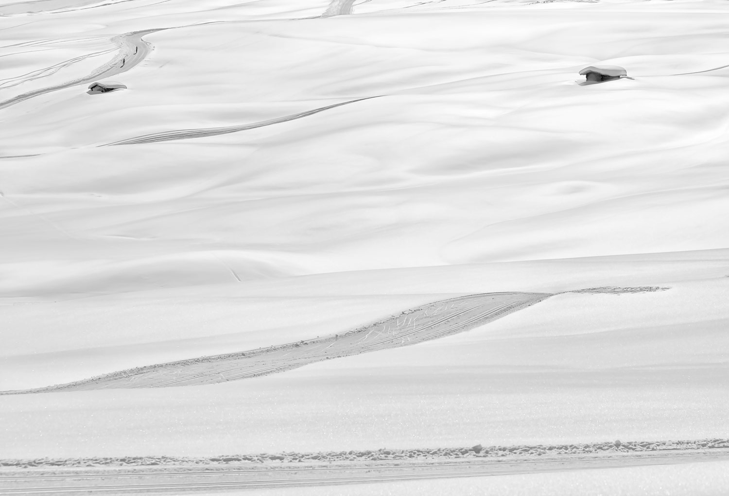 Snow Shapes #7, © Rosario CIVELLO, 1st Place, Non-Professional - Landscape and Nature, Zebra Awards - TZIPAC Black and White Photographer of the Year