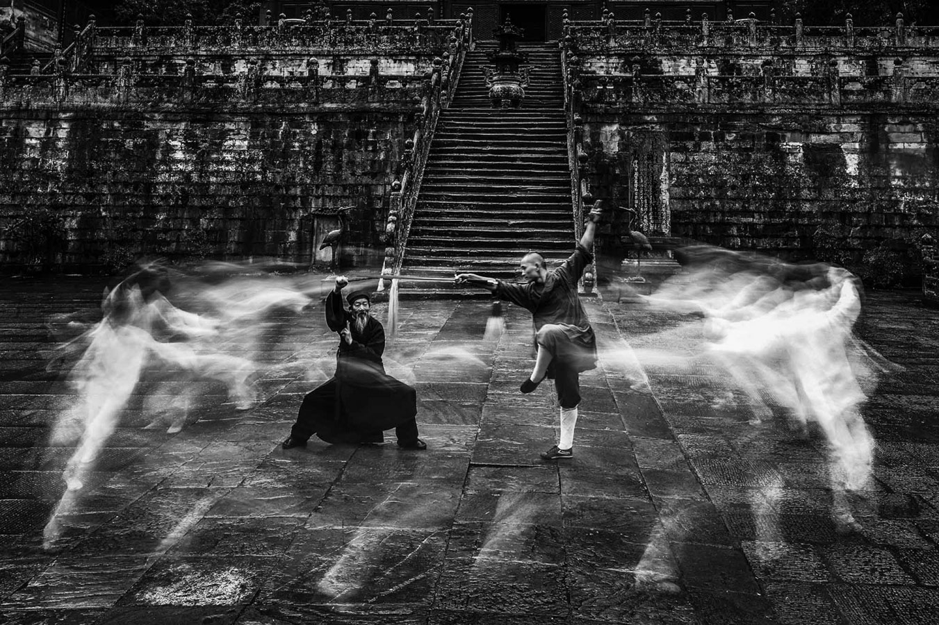 Wudang Kung Fu 4, © Genhong YANG, 2nd Place, Non-Professional - Photojournalism/Documentary, Zebra Awards - TZIPAC Black and White Photographer of the Year
